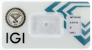 Diamant 0,214 ct D VVS1 IGI Zertifikat - Sealed