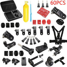 60 Pcs Accessories Set For GoPro Hero 2 3 3+ 4 5 SJCAM HeadChest Strap Pole DCUK