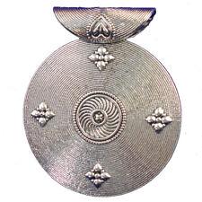 2Pcs Tibetan Silver Round Pendant Bead 69x2mm L35