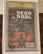 Deadpool #55 CGC Graded 9.8 SS Signed And Sketch Jimmy Palmiotti White Pages