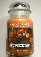 Yankee Candle PUMPKIN WREATH 22 oz LARGE JAR HTF SCENT