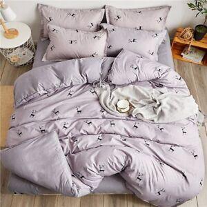 Home Textile Bedding Set 100% Microfiber Duvet Cover 4pcs Bed Set Bedcloth Sheet