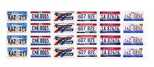 1/24 1/25 scale model car Supernatural Impala license plates tags 1:25