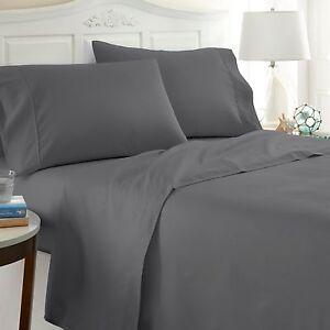 Ultra Soft Hypoallergenic Checkered 4 Piece Bed Sheet Set - Extra Deep Pocket