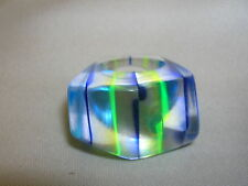 Vintage Lucite Chunky MOD Ring Space Age Size 5.5 Blue Yellow Green