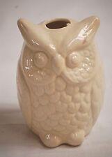 Old Vintage Ceramic White Horned Owl Bird Figurine Curio Cabinet Shelf Decor
