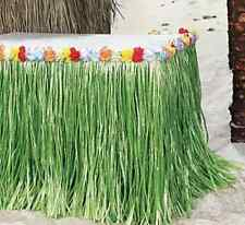 """HIBISCUS GREEN LUAU GRASS TABLE SKIRT  9 FT X APPROX 29"""""""