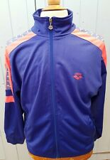 Vintage Arena Taping Tracksuit Track Top Jacket Blue Medium