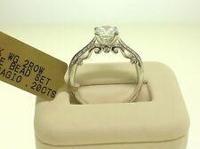 VERRAGIO 18K INSIGNIA 7023 SEMI-MOUNT 0.20 CTW DIAMONDS-SIZE 6.5 US-RETAIL$2900
