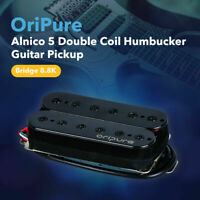 OriPure Alnico 5 Humbucker Double Coil Electric Guitar Bridge Pickup Black 8.8K