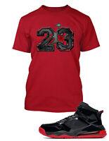 23 Graphic T shirt To match Jordan Mars 270 Red Shoe Mens Tee Shirt Pro Club Tee