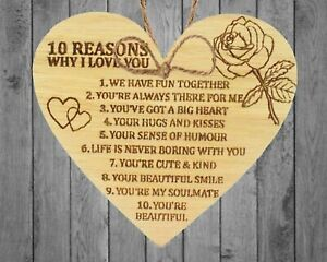 10 Reasons why I love you. Birthday Anniversary Or Valentines Gifts Husband Wife