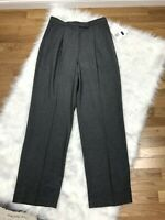 New Liz Claiborne Kylie Dress Pants Womens 10 Gray Career High Waist Pleated $80