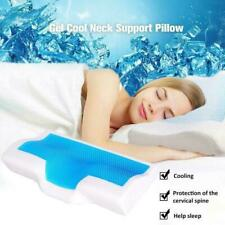 Cool Gel Memory Foam Bed Wedge Pillow Cushion Neck Support Sleep Back Home Q1A1