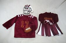 Football Player Cheerleader Uniform Set doll clothes Party Wine Bottle Bag Cover