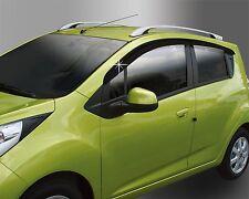 Smoke Window Visors Rain Guards 4p for 2013 2014 Chevrolet Spark LS LT