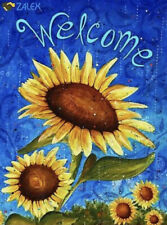 "Toland Sweet Sunflowers Welcome Garden Flag 12.5"" x 18"" New in original packagi"
