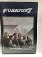 Furious 7 (DVD, 2015) Vin Diesel, Paul Walker, Dwayne Johnson, Jason Statham
