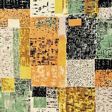 vtg 50s fabric abstract atomic era artist painterly print DIY cushions wall art