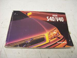 Volvo V40 S40 Betriebsanleitung Handbuch Bedienungsanleitung 2000 Deutsch