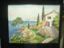 vecchio olio su tela mis.. 30 x 40 firmato E. Landi