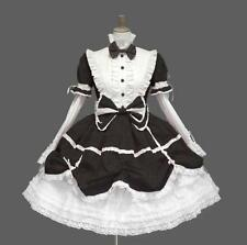 Gothic Lolita Womens Western Dress Falbala High Waist Cosplay Costume Lace