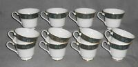 Set (12) Royal Doulton CARLYLE PATTERN Bone China Footed Cups ENGLAND