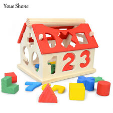 Wooden Kids Educational Toy Puzzle Learning Game Baby Colorful Preschool new
