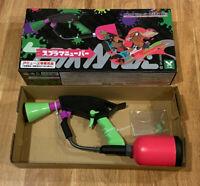"Splatoon 2 Spla Maneuver Weapon Replica Splat Dualies Water Gun Neon/Pink ~14x7"""