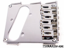 *NEW Modern 6 Saddle BRIDGE for Fender Telecaster Tele 10.5mm Spacing Chrome