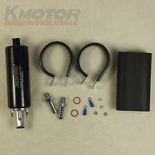 New Black Universal High Flow & Fuel Pump Pressure External Inline 255LPH GSL392