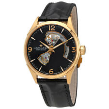 Hamilton Jazzmaster Open Heart Black Dial Automatic Mens Leather Watch H32735731
