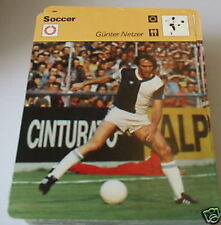 Gunter Netzer-Tarjeta de Coleccionista de fútbol