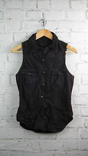 BNWT Muubaa Twisted Suede Sleeveless Top in Anthracite sz 10 uk rrp £200
