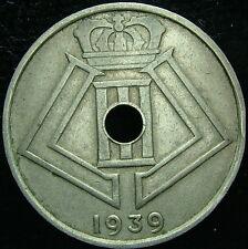 1939   Belgio Belgique Belgie   25  centesimi   centimes