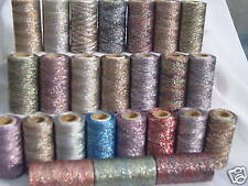 25 Metallic multic Embroidery Spools, 25 Different colours   400 YARDS EACH