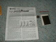 IPMS  1/700 Ship Railings Photo-etched brass  D61
