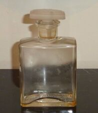 "VINTAGE RICHARD HUDNUT GARDENIA BOTTLE LETTER ""R"" ON GLASS STOPPER 5 1/4"" TALL"