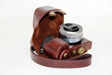 Leather case bag strap Camera for Sony alpha a6000 A6300 With 16-50mm Lens