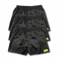 3 PACK OF SATIN BOXER SHORTS NAVY OR BLACK ALL SIZES AVAILABLE S M L XL XXL S304