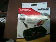 Magnavox RF Modulator Video Converter RCA Output to F Type Coaxial Signal NEW