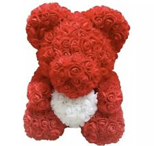 17X17X29 Teddy Rose Bear Artificial Flowers Valentine Wedding Gifts Box Dec L2B7
