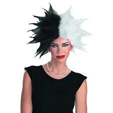 Cruella de Vil Costume Wig Disney Wicked Adult 101 Dalmations Villain Halloween