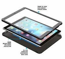 Case For Apple iPad Pro 12.9 Poetic【Revolution】Built-In Screen Protector Black