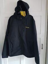 Stanley Workwear Andes Men's Softshell Black Jacket Hooded Full-Zip Logo Sz L