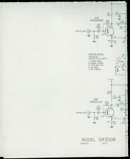 Rare Harman Kardon SR300B Stereo Receiver Schematic Parts List & Alignment Chart