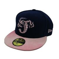 NewEra 59fifty 100%authentic Size 7 1/2 fitted Hat Pink/Blue mlb baseball