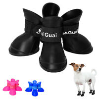 Waterproof Dog Shoes Boots Booties Anti-slip Protective Rubber Snow Rain Shoes
