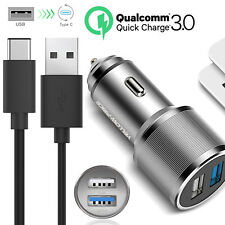 Quick Charge 3.0 USB-C Cable Fast Car Charger for Motorola Moto Z Force Droid AU