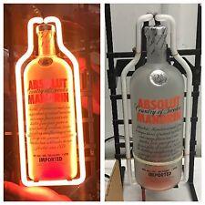 NEW Absolutely Absolut Vodka Mandarin Orange Neon Light Bottle